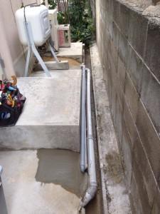 給水管を30年前の鉄管から塩ビパイプへ交換 工事後