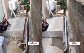 給水管を30年前の鉄管から塩ビパイプへ交換