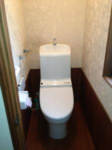 トイレリフォーム 節水洋式トイレ 工事後